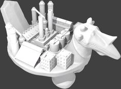 World Bird Industrial Habitat by MicahGanske, derived from a 19th Century Ona Niha ritual seat at #Met3D