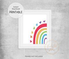 Half Rainbow Printable Print - Wall Art Printable Prints Rainbow Bedroom, Rainbow Wall, Rainbow Print, Nursery Decor Boy, Nursery Wall Art, Bedroom Decor, Girls Bedroom, Quote Prints, Wall Art Prints