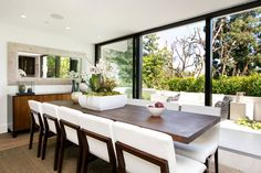 Peep Inside Kendall Jenner's New Home, A.K.A. Emily Blunt's Old One #refinery29  http://www.refinery29.com/2016/07/115705/kendall-jenner-emily-blunt-john-krasinski-hollywood-hills-home#slide-10  Calling all Kardashians and Jenners: There's a new dining room for family dinner parties......