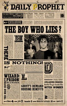 The Daily Prophet is a wizarding newspaper based in London. It is the primary source of news for...