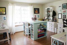 Beautiful sewing room!