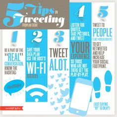 5 Tips on Tweeting from an Event via @Social Worker Worker@Ogilvy #Infographic #Twitter