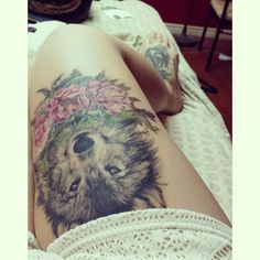 As aesthetically pleasing as tattoos are, they can be costly and require a lot of time, effort, and patience. Having a tattoo done is only half the job as the rest requires taking care of it and en… Wolf Tattoo Sleeve, Cat Tattoo, Arm Band Tattoo, Sleeve Tattoos, Tattoo Neck, Wolf Tattoos, Forearm Tattoos, Black Tattoos, Animal Tattoos