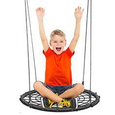 KHOMO Gear Complete Swing & Spin Set-round 24 Inches Diameter Black for sale online Outdoor Swing Seat, Tire Swings, Drill Brush, Outdoor Toys, Spinning, Dreaming Of You, Outdoors, Things To Sell, Black