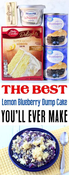 How to Make Dump Cake!  This insanely flavorful lemon blueberry cheesecake dump cake nails that Spring-meets-Summer flavor perfectly, and is all around so easy to make!