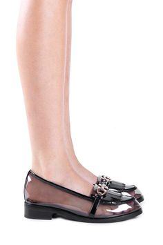 Jeffrey Campbell Shoes RESERVE in Smoke Black Patent