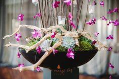 Wedding Ceremony | Ceremony Décor | Ceremony Arrangements | Custom Floral Design | Orchids | Succulents | Boston Wedding Florist | Stapleton Floral Design | Fat Orange Cat Studio