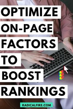 On-page optimization is important as it is the process of optimizing the entire website to ensure that the content is excellently crawled and indexed by Google as well as other search engines. There are factors that Google considers when analyzing a website which leads them to decide how it will be ranked for certain keywords. Find out here the on-page factors to boost your rankings! Budgeting Finances, Budgeting Tips, Wealth Management, Money Management, Financial Planning For Couples, Dividend Investing, Finance Organization, Managing Your Money, Early Retirement