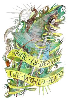 Lord of the Rings Tolkien Illustrated Quote 8 x by LemonWatercolor--- this would make a fantastic tattoo :)