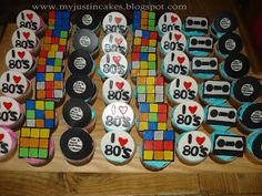 Just in Cakes: 80's Theam Cupcakes