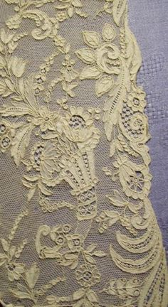 "Antique French ""Chateau de Fleurs"" lace"