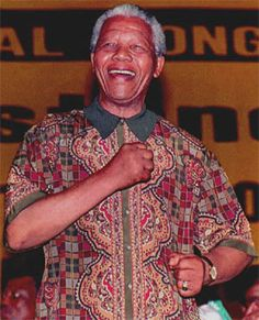 """Nelson Mandela - famously worn by Tata Madiba -known as """" Madiba Shirts """" Nelson Mandela Quotes, Xhosa, First Black President, Human Rights Activists, Black Presidents, Joan Rivers, Robin Williams, Fashion Line, African History"""