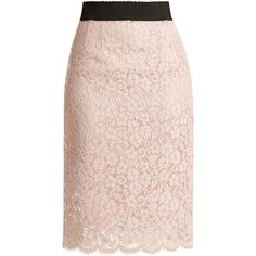 Dolce & Gabbana Cordonetto-lace pencil skirt (€580) ❤ liked on Polyvore featuring skirts, bottoms, dolce and gabbana, light pink, light pink skirt, dolce gabbana skirt, knee length summer skirts, lace skirts and elastic waist skirt