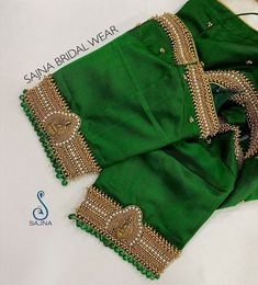 Silk Saree Blouse Designs, Blouse Neck Designs, Silk Sarees, Designer Blouse Patterns, Green Blouse, Embroidered Blouse, Boho Shorts, Blouses, Videos