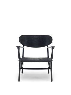 Carl Hansen & Søn - CH22 | Lounge Chair - Black - Designed by Hans J. Wegner - http://www.carlhansen.com