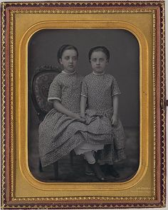 Jeremiah Gurney, Two Girls, 1857