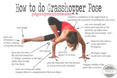 Pin now, practice later! How to do grasshopper pose. Wearing: Zella leggings, Sweaty Betty tank