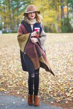 Layer a cozy blanket scarf & turtleneck sweater   Little Blonde Book by Taylor Morgan   A Life and Style Blog