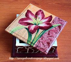 UN REGALO EN DECOUPAGE: Decoupage Cajas Wooden Crafts, Diy And Crafts, Arts And Crafts, Paper Crafts, Decoupage Box, Decoupage Vintage, Tole Painting, Fabric Painting, Painted Boxes