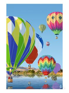 Hot Air Balloons Poster by Lantern Press at AllPosters.com