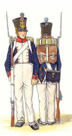 French Light Infantry, Napoleonic Wars (1812 AD - 1815 AD)