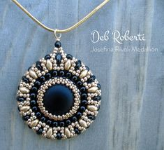 Josefina Rivoli Medallion beaded pattern tutorial by Deb