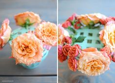 DIY Latte Bowl Floral Arrangement Gift