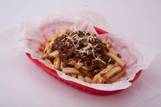 Mexican fries with saucy ground beef on top. Yummy!