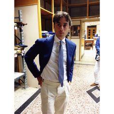 http://chicerman.com  rj-okuno:  Thank you Mr.Caccioppoli ! Nice jacket & trousers. #caccioppoli #napoli  #menshoes