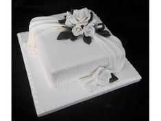 one tier square wedding cake - Google Search