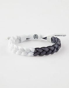RASTACLAT Chai Vista Collection Shoelace Wristband Bracelet Tan Black NEW