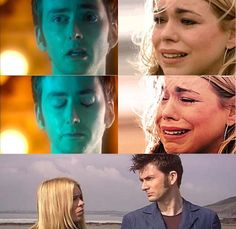 "Doctor Who Season 2 and 4 Finale BOTH OF THESE MADE ME CRY SO MUCH! I just kept thinking ""celeste it's just a show stop crying"" BUT ITS NOT JUST A SHOW AND EVERY SINGLE DEATH OR GOODBYE IN THESE SEASONS MADE ME CRY!!! AGH"