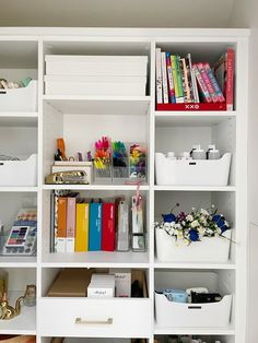 """Honey helped me save money on these bins to organize my """"catch-all"""" closet!"""