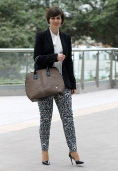 Divina Ejecutiva: Mis Looks - El pantalón de flores
