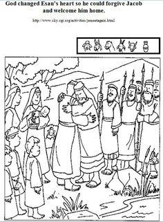 BIBLE CRAFTS FOR KIDS: Jacob and Esau Reunite