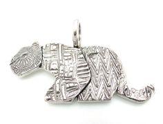 Fine Silver Mountain Lion Pendant with Arrowheads--Me-auuuuw. Kris Kramer Designs (c) 2013