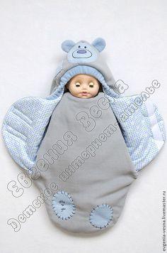 """Купить Конверт-кокон на выписку """"Мишка Тедди"""" - конверт, для новорожденного, на выписку, для прогулок, кокон"""
