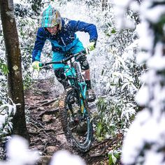 """Welcome to the jungle? It's snowing in #Taipei for the first time in like 30 years. #TaipeiMTB"" Mountain biking mtb bike"