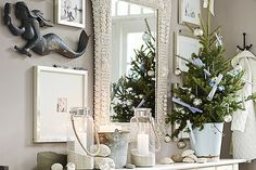 14 Holiday Decor Ideas To Deck The Halls #refinery29  http://www.refinery29.com/holiday-decorations#slide10