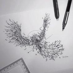 Geometric pheonix by Kerby Rosanes
