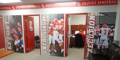 Olivet College Football Locker Room and Coach's Office Wall Signs.