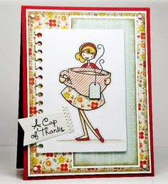 Wendy Bond  Die-namics: Insert It - 3x4 Notebook Paper; Accent It - Flags and Tags  Clear Stamps: You're My Cup of Tea  Supplies: Sweet Tooth Card Stock; Wild Cherry Card Stock  To purchase any of these supplies, visit the MFT Boutique.