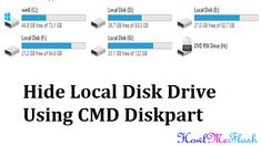 How To Hide Local Disk Drive Using CMD Diskpart