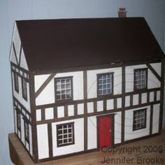 Let's Build A Dollhouse Tutorial by Jennifer Brooks of Jennifer's Free Dollhouse Printables