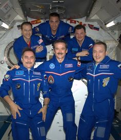 "Expedition 35 aboard the International Space Station (2012/2013) : Colonel Chris Hadfield and ""friends"".  Source: Facebook / Col. Chris Hadfield"