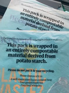 The Guardian newspaper switches from plastic to biodegradable wrapping Print Design, Graphic Design, Plastic Waste, Dezeen, Organic Recipes, The Guardian, Sustainable Fashion, Biodegradable Products, Newspaper