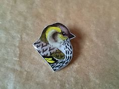 Hey, I found this really awesome Etsy listing at https://www.etsy.com/uk/listing/254601704/siskin-illustrated-bird-brooch