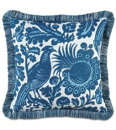 Resistance Bleu Pillow by Eastern Accents