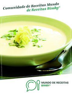 Creme de Couve-flor de Equipa Bimby. Receita Bimby<sup>®</sup> na categoria Sopas do www.mundodereceitasbimby.com.pt, A Comunidade de Receitas Bimby<sup>®</sup>. Creme, Pudding, Desserts, Food, Sweet Recipes, Spices, Cauliflowers, Portuguese Recipes, Cook