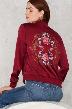 Nasty Gal Flower Trip Bomber Jacket - Sale: 30% Off | Bomber Jackets | Jackets + Coats | Jackets + Coats
